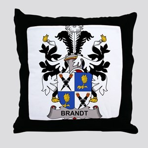 Brandt Family Crest Throw Pillow