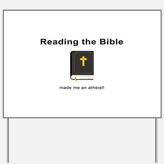 Reading the Bible Yard Sign