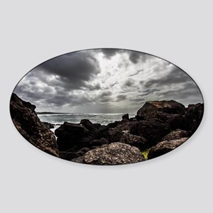 Oregons Rocky Shores Sticker (Oval)