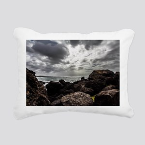 Oregons Rocky Shores Rectangular Canvas Pillow