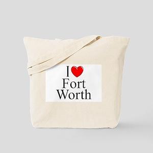 """I Love Fort Worth"" Tote Bag"