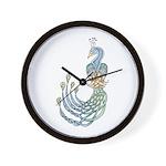 Celtic Peacock Wall Clock