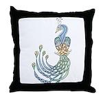 Celtic Peacock Throw Pillow