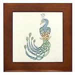 Celtic Peacock Framed Tile