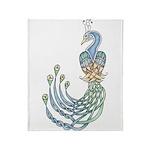 Celtic Peacock Throw Blanket
