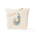 Celtic Peacock Tote Bag