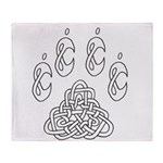 Celtic Paw Throw Blanket