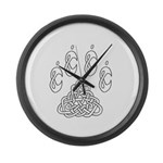 Celtic Paw Large Wall Clock