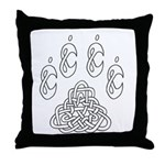 Celtic Paw Throw Pillow