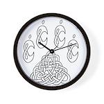 Celtic Paw Wall Clock