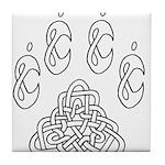 Celtic Paw Tile Coaster