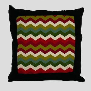 Warm Dark Chevron Throw Pillow