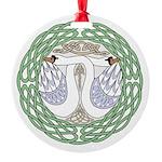 Celtic Swans Ornament
