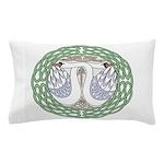 Celtic Swans Pillow Case
