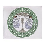 Celtic Swans Throw Blanket