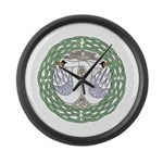 Celtic Swans Large Wall Clock