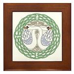 Celtic Swans Framed Tile