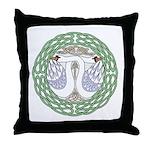 Celtic Swans Throw Pillow