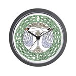 Celtic Swans Wall Clock
