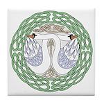 Celtic Swans Tile Coaster
