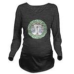 Celtic Swans Long Sleeve Maternity T-Shirt