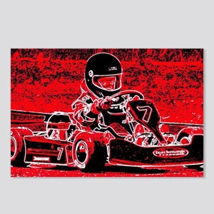 Kid Karts are red RED Hot Postcards (Package of 8)