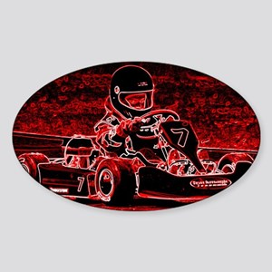 Kid Karts are RED Hot! Sticker (Oval)