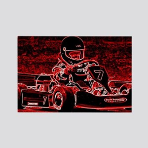 Kid Karts are RED Hot! Rectangle Magnet