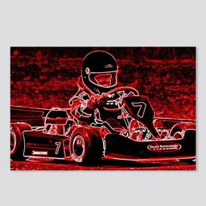Kid Karts are RED Hot! Postcards (Package of 8)