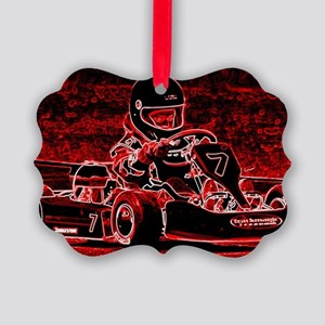 Kid Karts are RED Hot! Picture Ornament