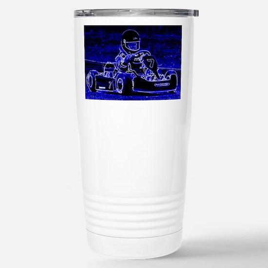 Kart Racer in Blue Stainless Steel Travel Mug