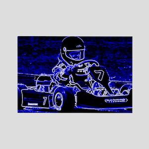 Kart Racer in Blue Rectangle Magnet