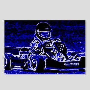 Kart Racer in Blue Postcards (Package of 8)