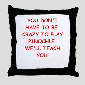 PINOCHLE Throw Pillow