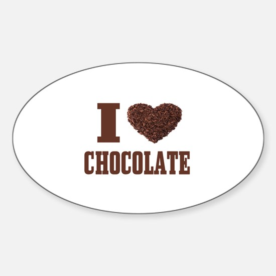 I Love Chocolate Decal