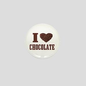 I Love Chocolate Mini Button