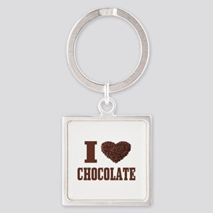 I Love Chocolate Keychains