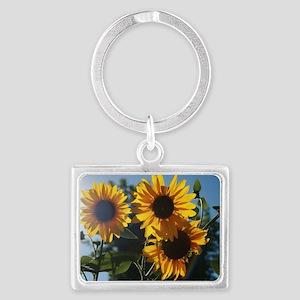 Sunflowers Landscape Keychain