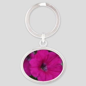 velvet flower Oval Keychain