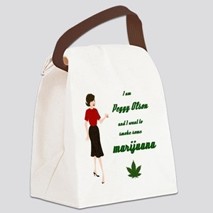 Peggy smoking Canvas Lunch Bag