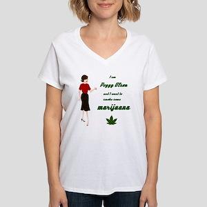 Peggy smoking Women's V-Neck T-Shirt