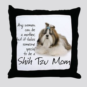 Shih Tzu Mom Throw Pillow