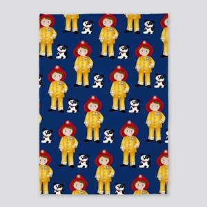 Lil Firefighter and Dalmatian 5'x7'Area Rug