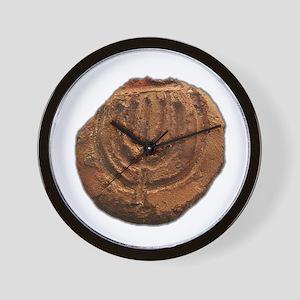 Ancient Menorah Wall Clock