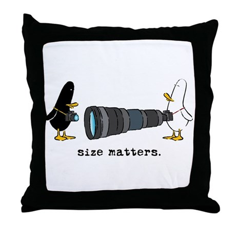 WTD: Size Matters Throw Pillow