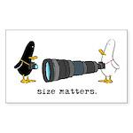 WTD: Size Matters Rectangle Sticker