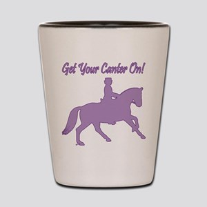 Dressage Horse Get Your Canter On Shot Glass