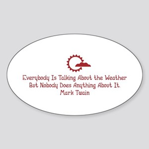 The Weather Oval Sticker