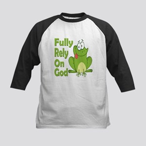 Fully Rely On God Kids Baseball Jersey