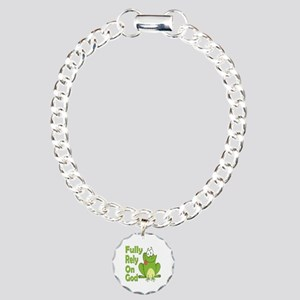 Fully Rely On God Charm Bracelet, One Charm
